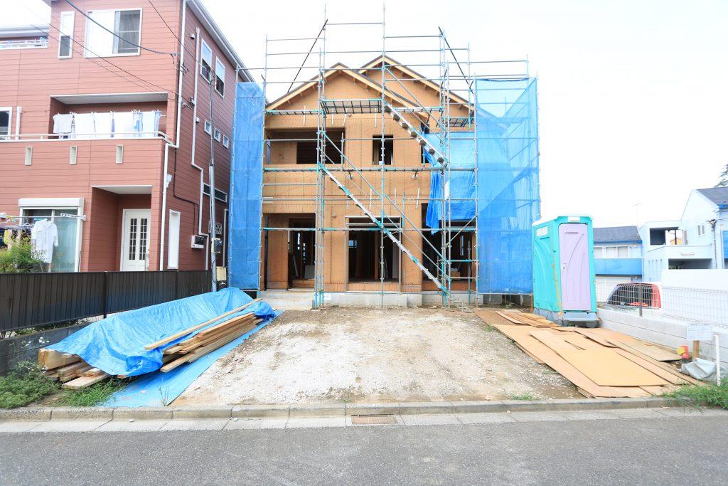 現地写真 2×4工法の建築途中の見学ができます!