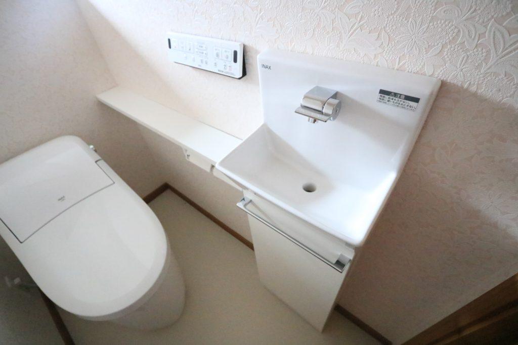 【施工例】手洗いユニット付きのローシルエット便座!