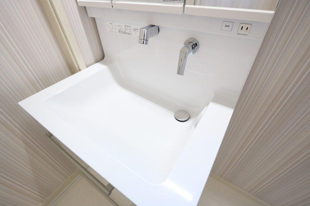 【施工例】使いやすさと広さを実現した大型洗面ボウル!